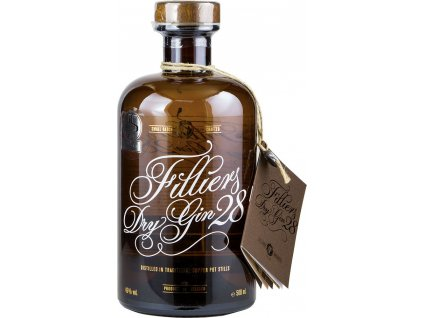 Filliers 28 dry 46%, gin 0,5L
