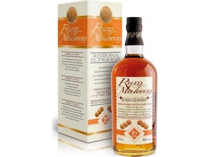 Malecon Reserva Superior 12 Y.O. 40%, rum, darčekové balenie 0,7L