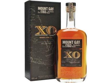 Mount Gay XO 43%, rum, darčekové balenie 0,7L