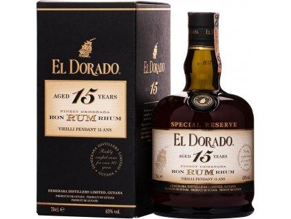 El Dorado Special Reserve 15 Y.O. 43%, rum, darčekové balenie 0,7L