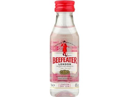 Beefeater London dry gin 40%, gin 0,05L