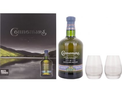 Connemara Distillers Edition s 2 pohármi