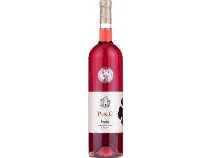 Pereg Rubinus čierne ríbezle, Južnoslovenská oblasť, ovocné víno, ružové 0,75L
