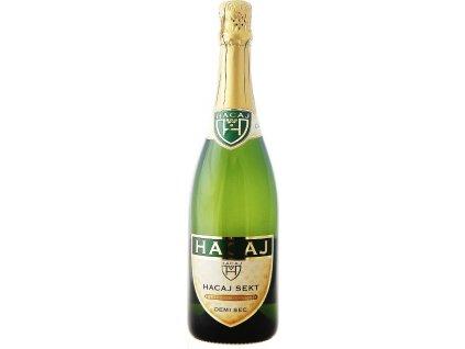 Hacaj sekt Demi Sec, Malokarpatská oblasť, šumivé víno, sekt, tradičná metóda, biele, demi sec 0,75L