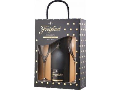 Freixenet Gift Box Cordon Negro s dvoma pohármi, darčekové balenie