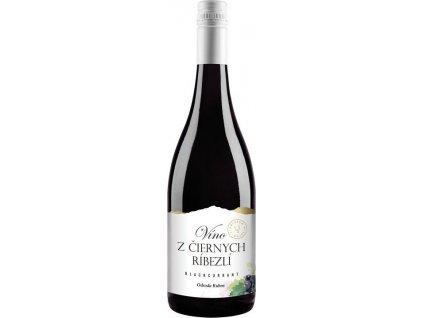 Miluron Víno z čiernych ríbezlí - ríbezľové víno, Slovensko, ovocné víno, červené, sladké 0,75L
