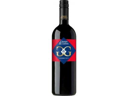 Giorgio & Gianni Lambrusco Dell´Emilia, IGT, Veneto, r2015, víno, červené, polosladké, Screw cap 0,75L