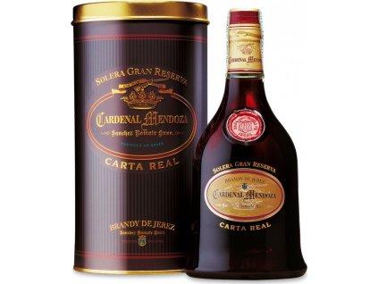 Cardenal Mendoza Carta Real 40%, brandy de Jerez, darčekové balenie 0,7L