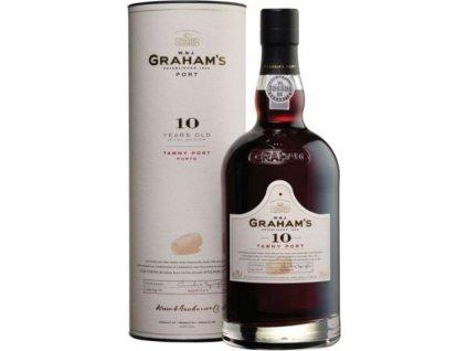 Graham's 10 Y.O. Tawny Port, Porto e Douro, fortifikované víno, červené, sladké, darčekové balenie 0,75L
