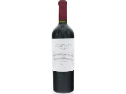 Rutini Apartado Gran Malbec, Mendoza, r2015, víno, červené, suché 0,75L