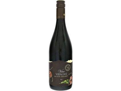 Miluron Víno Višňové Black Cherry, Slovensko, ovocné víno, červené, sladké, Screw cap 0,75L