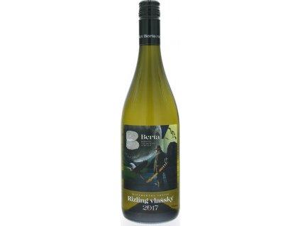 Berta Winemakers Choice Rizling vlašský, Južnoslovenská oblasť, r2017, akostné víno, biele, polosuché 0,75L