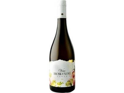 Miluron Víno Broskyňové Peach wine, Slovensko, ovocné víno, biele, sladké, Screw cap 0,75L