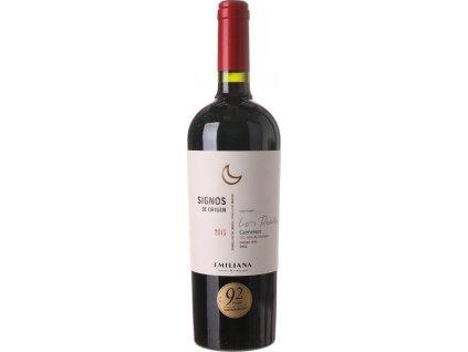 Emiliana Signos De Origen Carmenere BIO, Colchagua Valley, r2016, víno, červené, suché 0,75L