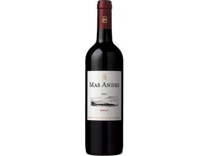 Rothschild Mas Andes Merlot, Valle Central, r2016, víno, červené, suché 0,75L