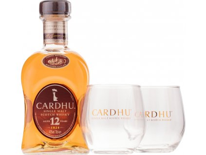 Cardhu 12 Y.O.  + 2 poháre