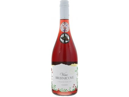 Miluron Brusnicové víno, Slovensko, ovocné víno, červené, polosladké 0,75L