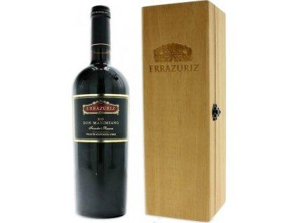Errazuriz Don Maximiano Founder´s Reserve, Aconcagua Valley, r2015, víno, červené, suché, darčekové balenie 0,75L