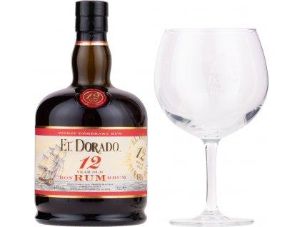 El Dorado 12 Y.O. + 1 pohár