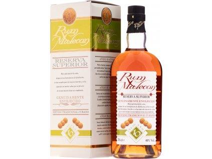 Malecon Reserva Superior 10YO 40%, rum, darčekové balenie 0,7L