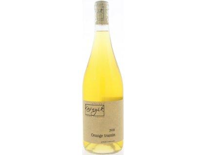 Kasnyik Orange Tramín, Južnoslovenská oblasť, r2018, víno, biele, suché 0,75L