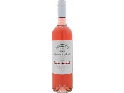 Šimák Zámok Pezinok Edícia Roman Janoušek Cabernet Sauvignon, Južnoslovenská oblasť, r2019, víno s prívlastkom-neskorý zber, ružové, polosuché 0,75L