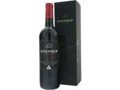 Kanonkop Pinotage Black Label, Stellenbosch, r2017, víno, červené, suché, darčekové balenie 0,75L