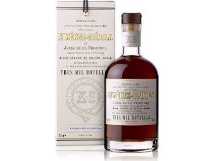 Ximénez-Spínola Liquor de Brandy Tres Mil Botellas 40%, brandy de Jerez, darčekové balenie 0,7L