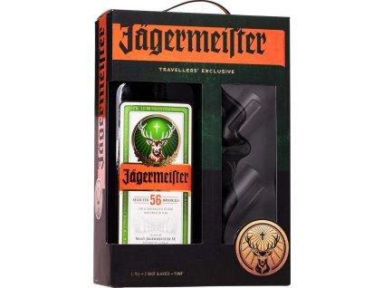 Jägermeister 1,75l + 2 poháre + pumpa