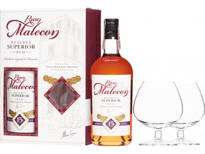 Malecon Reserva Superior 15 Y.O. + 2 poháre