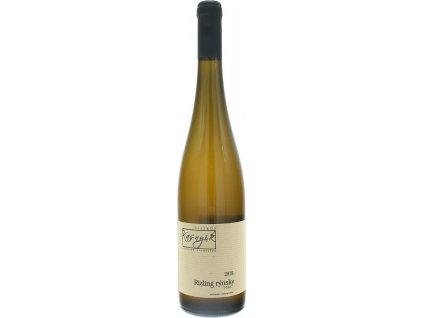 Kasnyik FOUR DAYS Rizling rýnsky, Strekov, Južnoslovenská oblasť, r2018, akostné víno, biele, suché, autentické 0,75L