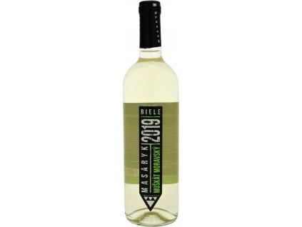 Masaryk Muškát moravský, Malokarpatská oblasť, r2019, akostné víno, biele, suché 0,75L