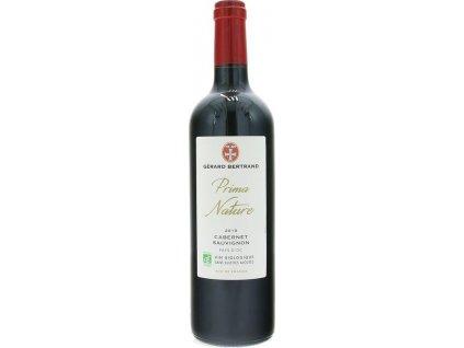Gérard Bertrand Prima Nature Cabernet Sauvignon, BIO, IGP, VIN DE PAYS, r2019, víno, červené, suché, organic 0,75L