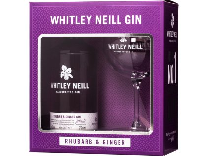 Whitley Neill Rhubarb & Ginger Gin + 1 pohár