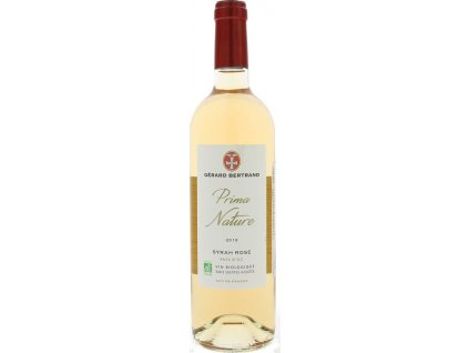 Gérard Bertrand Prima Nature Syrah Rose, BIO, IGP, VIN DE PAYS, r2019, víno, ružové, suché, BIO 0,75L
