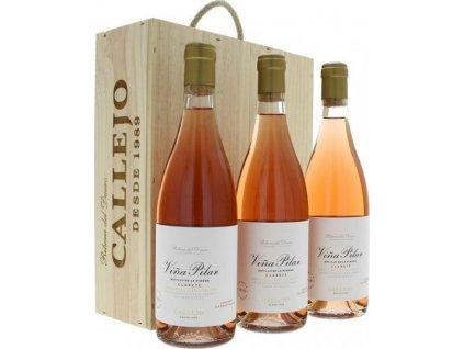 Bodegas Felix Callejo Viňa Pilar 3 x 0,75L, DO, Ribera del Duero DO, r2019, víno, ružové, darčekové balenie 2,25L