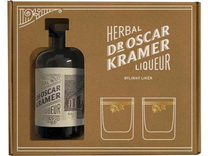 Dr. Kramer bylinný likér + 2 poháre