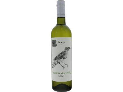 Berta Muškát moravský, Južnoslovenská oblasť, r2020, akostné víno, biele, polosuché, Screw cap 0,75L