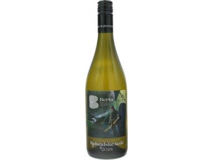 Berta Winemakers Choice Rulandské šedé, Južnoslovenská oblasť, r2018, akostné víno, biele, suché, Screw cap 0,75L