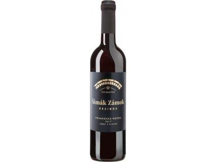 Šimák Zámok Pezinok Frankovka modrá, Južnoslovenská oblasť, r2017, víno s prívlastkom-výber z hrozna, červené, suché 0,75L