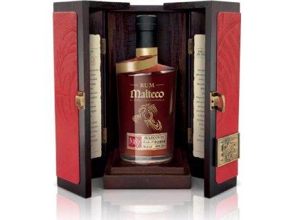 Malteco Selección 40% v drevenom boxe, r1987, rum, darčekové balenie 0,7L