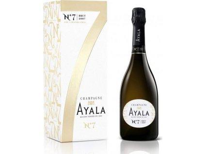 Champagne Ayala Brut N7, AOC, Champagne, r2007, šampanské, biele, suché, darčekové balenie 0,75L