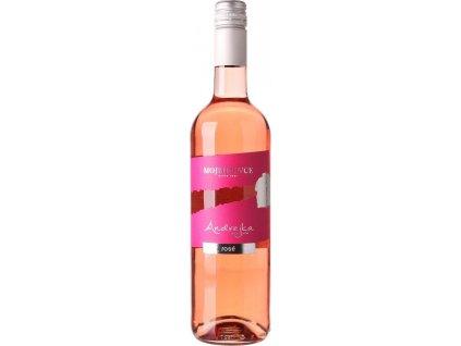 PD Mojmírovce Andrejka Rosé, Slovensko, r2020, akostné víno, ružové, polosladké, Screw cap 0,75L