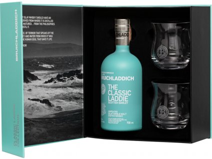 Bruichladdich The Classic Laddie + 2 poháre