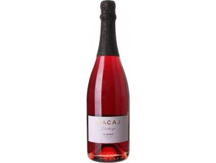 Hacaj Alibernet, Malokarpatská oblasť, r2017, šumivé víno, sekt, tradičná metóda, červené, extra dry 0,75L