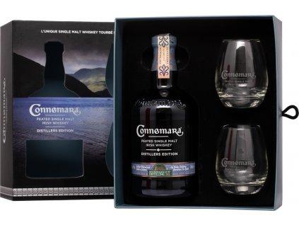Connemara Distillers Edition + 2 poháre
