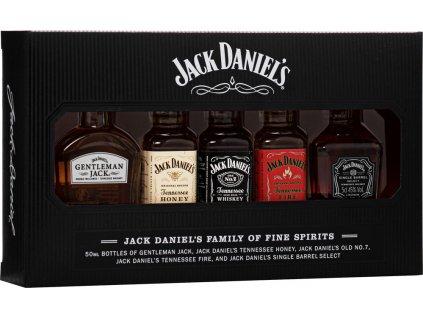 Jack Daniel's Family mini set 39% 5x 0,05 L