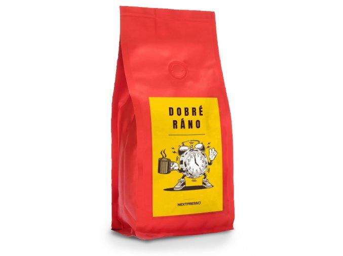 Cerstve prazena zrnkova kava citta del caffe dobre rano produkt