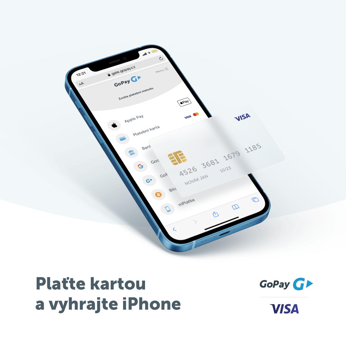 Plaťte kartou Visa a vyhrajte iPhone