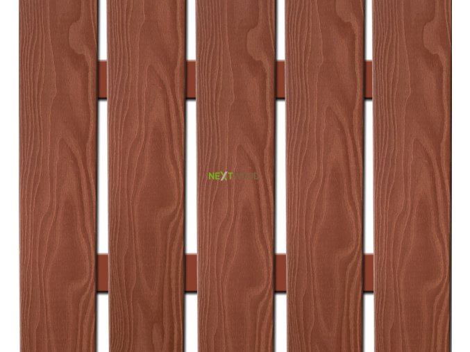 WPC široká plotovka 3D line Nextwood, třešeň